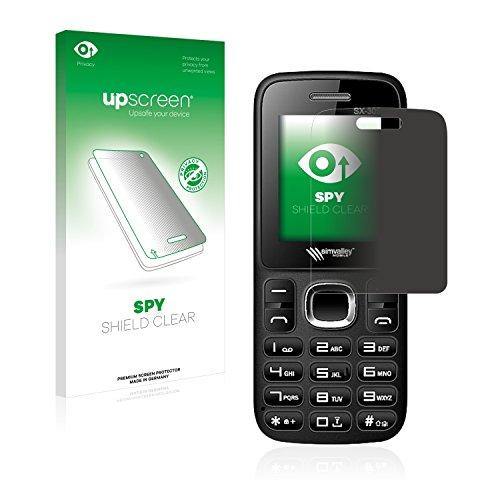 upscreen Anti-Spy Blickschutzfolie kompatibel mit Simvalley Mobile SX-305 Privacy Screen Sichtschutz Bildschirmschutz-Folie
