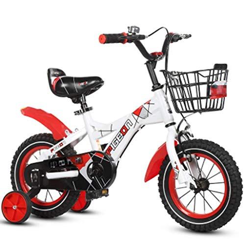 Fahrräder Heimtrainer für Kinder Rennrad für Kinder Heimtrainer Outdoor-Dreirad für Kinder Sehr Cooles Fahrrad (Farbe: Gelb, Größe: 14 Zoll)