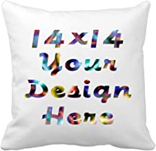 Deluxe Velvet Home Decor Custom Throw Pillow Cover, Personalized Christmas Toss Pillowcases,DIY Pets Keepsakes Cushion Pillow for Sofa,Loves Couples Photo,Wedding Gifts Birthday Present(2 Sided Print)