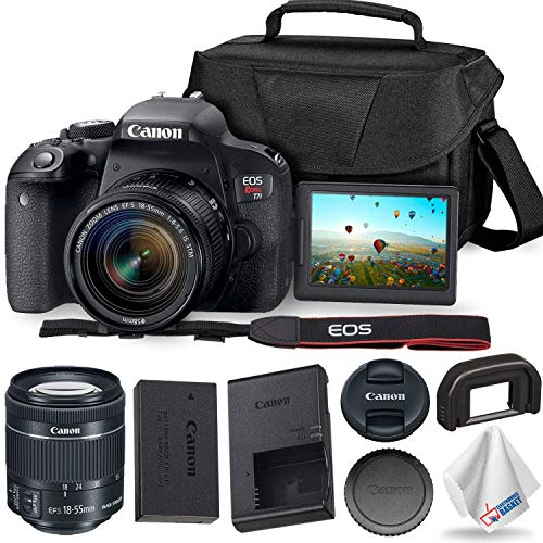 Save %6 Now! Canon EOS Rebel T7i DSLR Camera 18-55mm Lens + Carrying Case