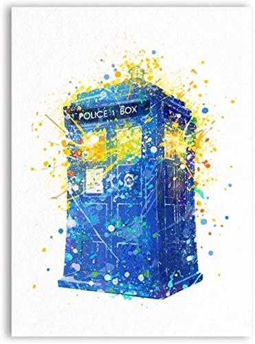 Surfilter Print auf Leinwand Who Canvas Kunstdruck Gemälde Tardis Doctor Who Kunst Poster und Print Wandbild für Wohnzimmer Mädchen Raumdekor 15.7& rdquo; x 23.6& rdquo; (40x60cm) No Frame 2