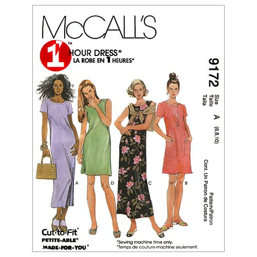 McCall's Patterns M9172 Misses' Dress in Two Lengths, Size C (10-12-14)