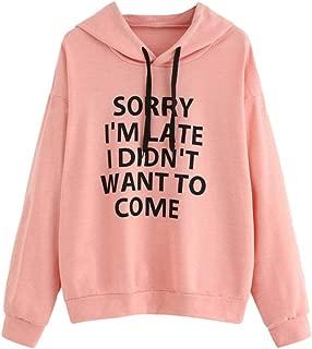 Women Letter Print O-Neck Hoodie Jumper Long Sleeve Sweatshirt Pullover Tops Limsea