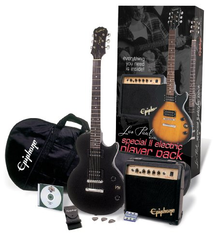 Epiphone Les Paul Player Pack Ebony Kit Guitarra Eléctrica