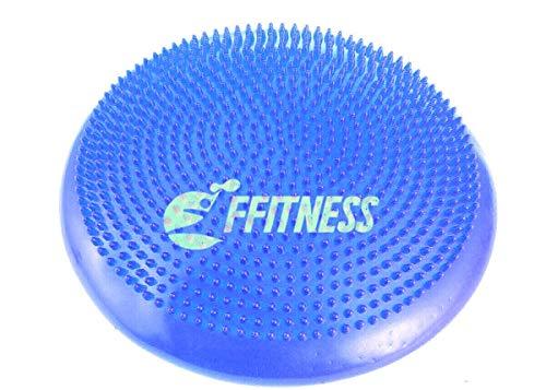 FFitness Balance Cushion, Cuscino Propriocettivo Gonfiabile Unisex Adulto, Blu, Taglia Unica