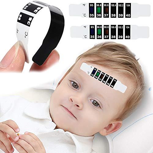 AISE 10 Teile/los Stirn Kopf Streifen Fieberthermometer Baby Kind Erwachsene Körper Check Test Temperaturüberwachung Sicher Ungiftig