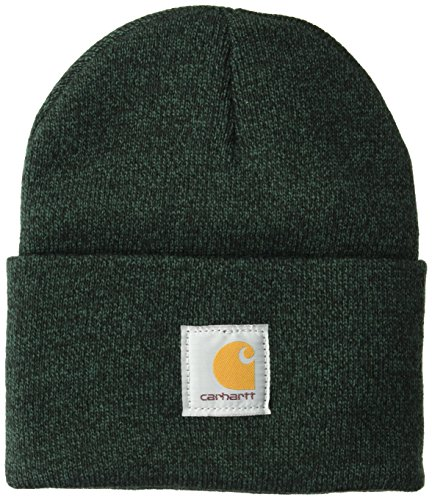 Carhartt Men's Acrylic Watch Hat A18, Hunter Green/Black, One Size