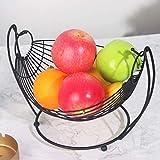 XBSLJ Fruteros Frutero Bandeja para Frutas Cesta de Frutas de Acero Inoxidable con Bandeja de Agua, Frutero para Cocina, Comedor, Gran Capacidad, Buen Soporte, Acero Moderno Resistente