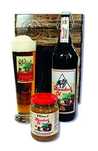 Fendt Dieselross Öl Geschenkkarton 1,0l + Glas + Senf