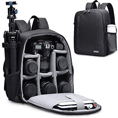 CADeN DSLR SLR Camera Bag Backpack for Mirrorless Cameras/Photographers, Camera Case Backpack Compatible with Nikon Canon Sony Lens Tripod Accessories Photography Men Women