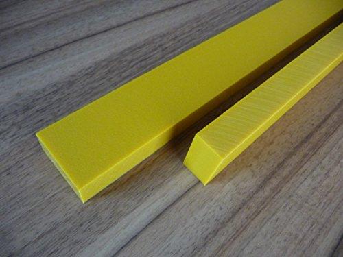Alt-intech® PE-plaat Play-Tec® in verschillende Kleuren en maten, UV-bestendig. 1190 x 590 x 19 mm geel