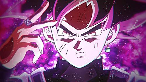 lcyab 1000 Rompecabezas De Madera, Adecuados para Adultos Y Niños-Póster Anime Goku Black Hair-Educación Familiar Interactiva, Regalos Navideños