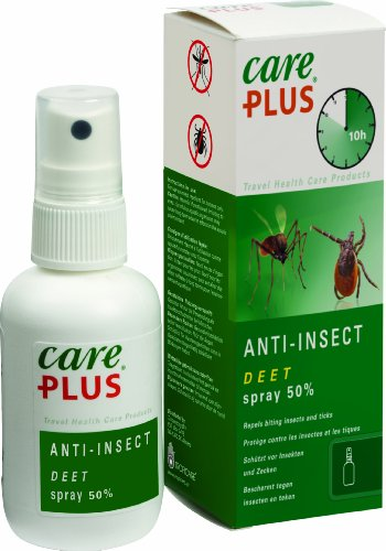 Care Plus Anti-Insectes DEET 50% en Spray 60 ML