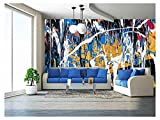 wall26 - Dripping Paint Graffiti Wall Close - Removable Wall Mural | Self-Adhesive Large Wallpaper - 100x144 inches