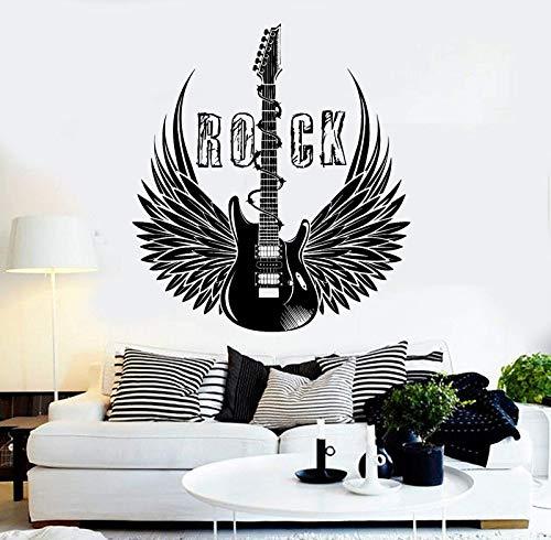 Música Vinilo Pegatinas De Pared Guitarra Eléctrica Rock Ventana Pegatinas Alas Música...
