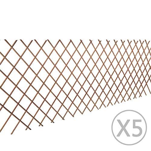 vidaXL 5x Rankgitter Weide Spalier Rankhilfe Gitter Scherenspalier 90 x 180 cm - 2
