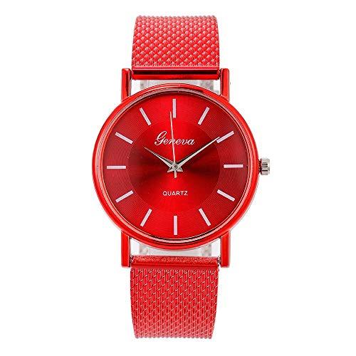 Damen Uhr Groveerble Frauen Armbanduhr Quarzuhr Lederband Blau Glas Smartwatch Gürtel Legierung Schnalle Outdoor Mädchen Sportuhr Abschlussgeschenk