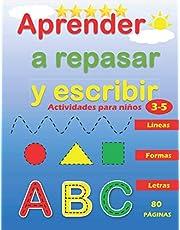 Aprender a Repasar y Escribir : Líneas Formas Letras: Libro de Trazos para Niños Preescolar : Actividades para Niños de 3 a 5 Años