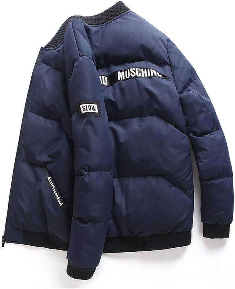 EFFIE Men's Casual Hooed Hoodies Pure Cotton Warm Winter Jacket Coats (Navy Blue, XL)