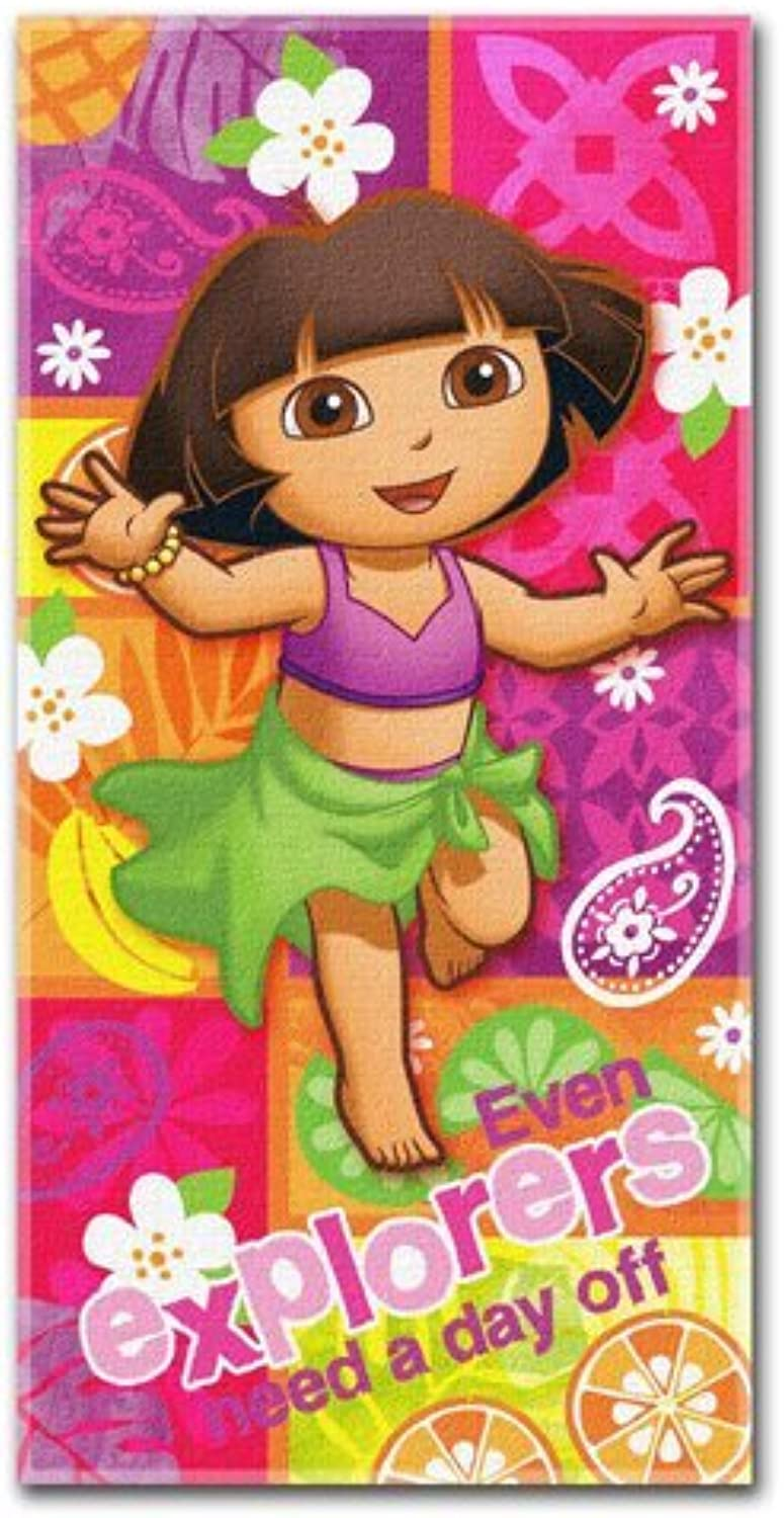 Towel  Dora the Explorer  Summer Salsa 26x58  New Bath Beach Licensed