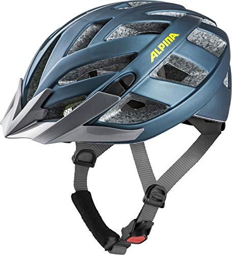 ALPINA PANOMA 2.0 LE Fahrradhelm, Unisex– Erwachsene, blue-neon-yellow, 52-57
