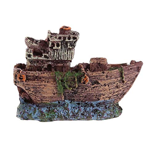 YOUNGE Fish Tank Landscaping Pirate Ships Resin Ship Decorations Suitable for Aquarium Fish Ships