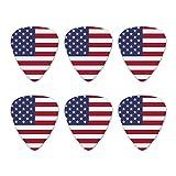 United States of America American USA Flag Novelty Guitar Picks Medium Gauge - Set of 6