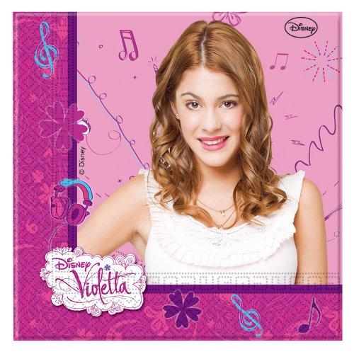 Disney Violetta Serviettes en Papier, Lot de 20