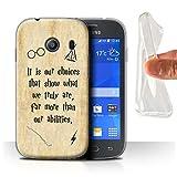 Hülle Für Samsung Galaxy Ace Style Schule der Magie Film Zitate Choices und Abilities Design Transparent Dünn Weich Silikon Gel/TPU Schutz Handyhülle Hülle