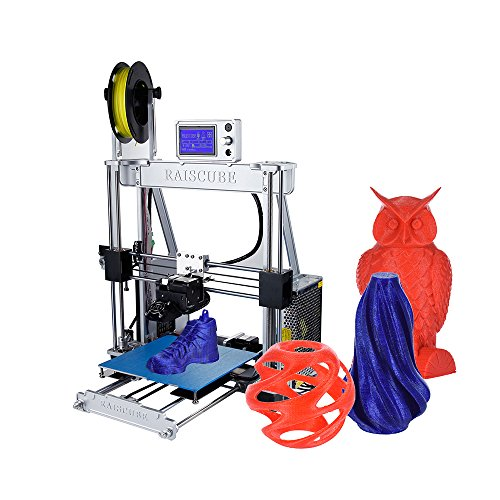Aibecy Self-Assembly 3D Printer Aluminum Alloy Frame 210 * 210 * 225mm Print Size Supports 1.75mm ABS/PLA/Wood/Nylon/PVA/PP Filament (Silver)