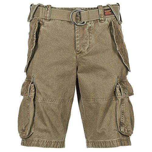 SUPERDRY Core Cargo Heavy Short Shorts Hommes Kaki Shorts/Bermudas
