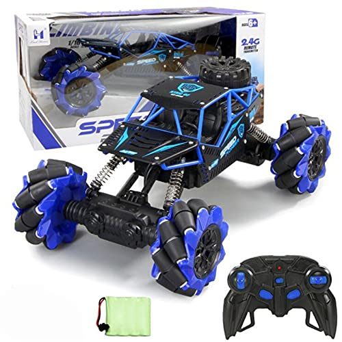 Kikioo Remote Control Twisting Car Rechargeable Off-road Climbing Car 360° Rotation Drift Deformation Stunt Car Electric Vehicle ModelToy Monster Reptile Truck For Adult Child Birthday Gift