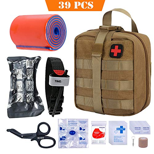 BUSIO Botiquín Primeros Auxilios,Kit Supervivencia Emergencia-Bolsa M