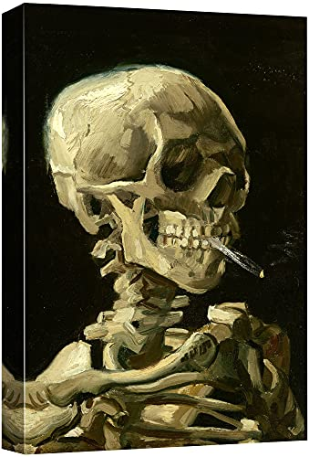 """wall26 -Skeleton by Vincent Van Gogh Painting - Canvas Art Wall Decor - 24""""x36"""""""