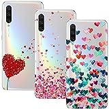 Young & Ming Compatible para Xiaomi Mi A3 Funda, (3 Pack) Transparente Ultrafina Carcasa Delgado antigolpes Resistente, Amor