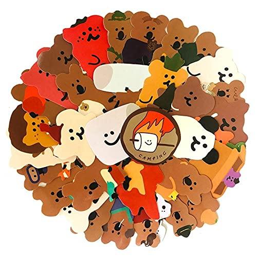 Turtle Story 34 pegatinas de papelería kawaii koala adecuadas para equipaje de viaje portátil, álbumes de recortes, diario, álbum de fotos, decoración JXNB (color 1 juego)