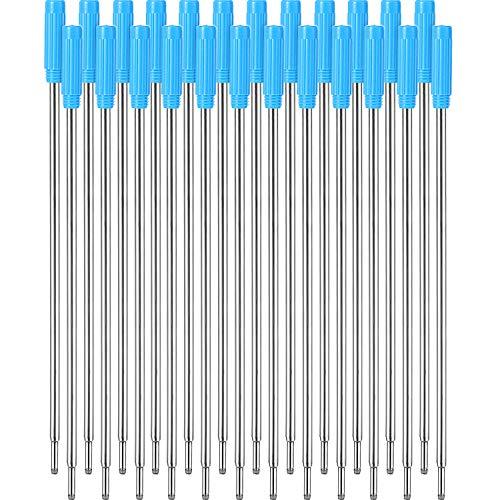 24 Stücke Austauschbarer Kugelschreiber Füllt Glattes Schreiben 11,6 cm (4,5 Zoll) und 1 mm Mittlere Spitze (Blau)