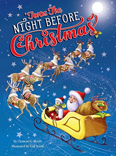 'Twas The Night Before Christmas - Childrens Padded Board Book - Holiday