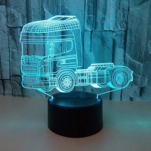 ilusión 3D de luz nocturna lámpara para sala de estar 3D illusion light De Habitación De Niños Lámpara De Mesa Los Mejores Regalos De Vacaciones De Cumpleaños Para Niños Con carga USB, control tá