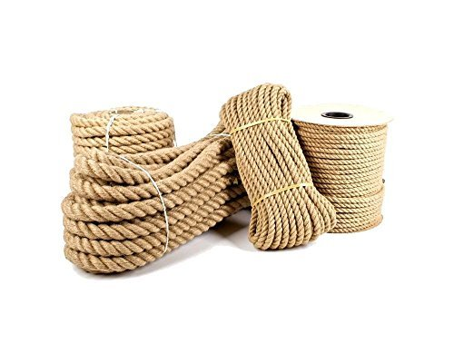 Sola 10mm Pure Jute Rope Twisted Cord braided Garden Boating Deckingh Home (5 metre)