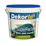 GDM-Superfacile, Idropittura Murale Traspirante, Dekortè (14 Litri)