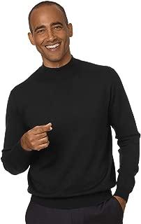 mens silk mock neck sweater