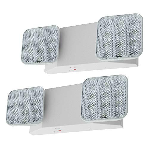 LFI Lights - 2 Pack - UL Certified - Hardwired LED Emergency Light Standard - ELWx2