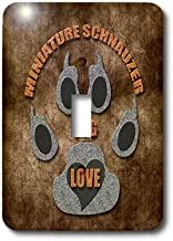 3dRose LSP_22088_1 Miniature Schnauzer Dog Love Dog Breed in Gray and Brown Single Toggle Switch