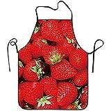 AEMAPE Delantal de diseño Divertido Fruta Fresa roja para Mujeres Hombres...