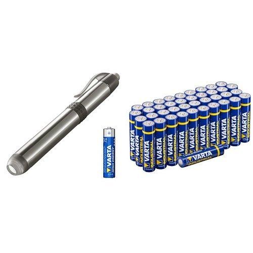 LED Pen Light mit Varta Industrial Batterien AAA 40er Pack