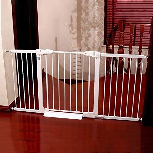 PNFP veiligheidspoort extra breed en hoog baby deur druk gemonteerd instelbaar puppy huisdier loopstal voor trap deur witte indoor 77-173cm
