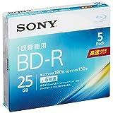 SONY ビデオ用ブルーレイディスク 5BNR1VJPS6(BD-R 1層:6倍速 5枚パック)