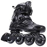 DLF Skates de roulement de Hockey Skates Skates Skates Steakers Sneakers Rouleaux Femmes Hommes Roller Skates pour Adultes Skates Inline Professional (Color : Black, Shoe Size : 45)
