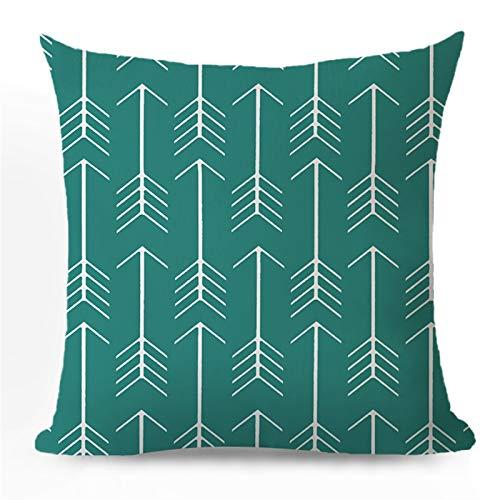 Caja de almohada verde Cubierta de cojín de lujo geométrico para la habitación de linger Sofá Cubierta de almohada nórdica 45 * 45 Decoración decorativa Decoración de la casa Rodamiento de rosquilla D
